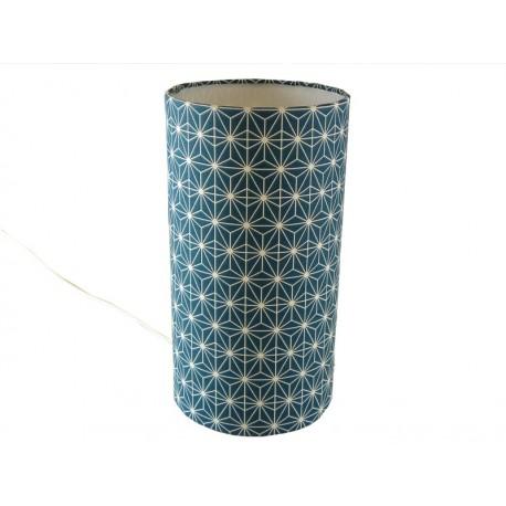 lampe tube Soleil d'orient bleu