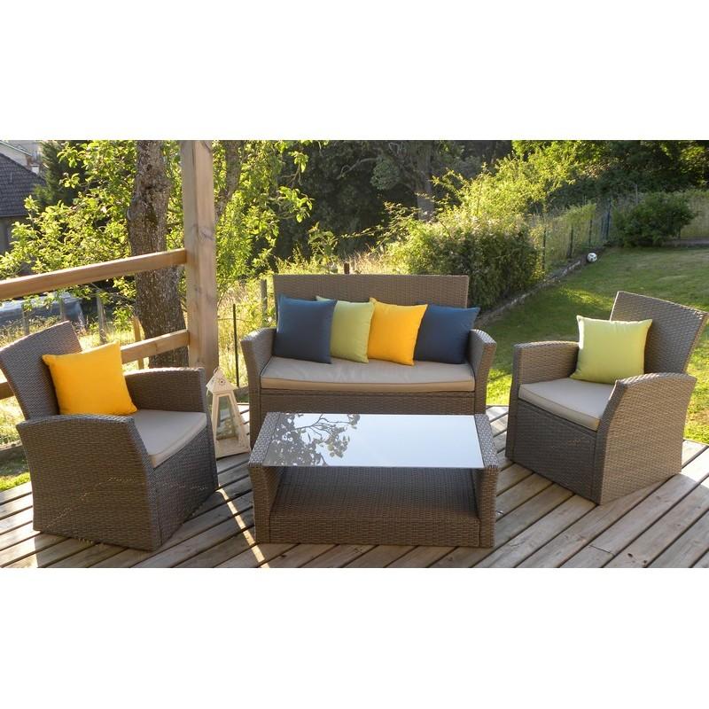 coussin carr bleu canard pour l 39 ext rieur. Black Bedroom Furniture Sets. Home Design Ideas