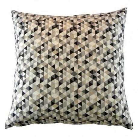 Coussin carré 40x40 cm Trimix gris / taupe