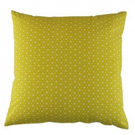 Coussin carré 40x40 cm Fuji jaune