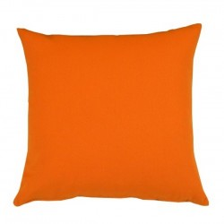 Coussin carré tissu Outdoor orange