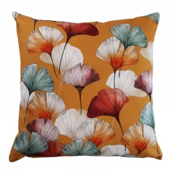 Coussin Ginkgo moutarde
