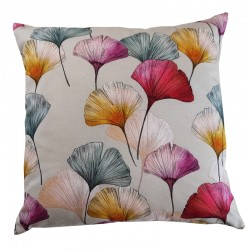 Coussin Ginkgo gris