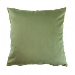 Coussin velours vert tilleul