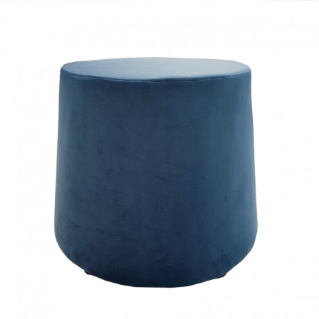 Pouf conique bleu marine