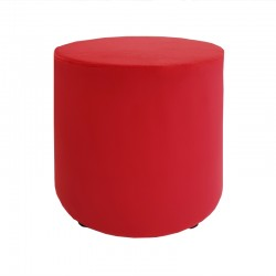 Pouf conique Velours rouge