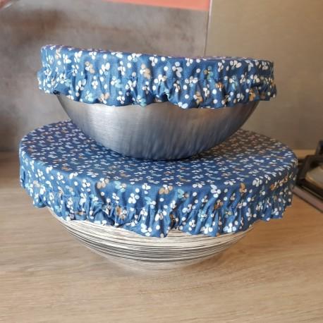 Charlotte couvre-plat fleurs bleues