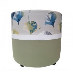 Pouf rond bicolore vert / camarillo bleu